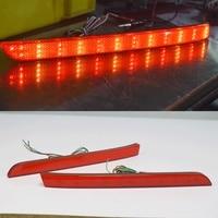 2PCS Red Lens LED Rear Bumper Reflector Light Tail Brake Fog Lamp For VW Multivan Caravelle