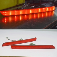 2PCS Red Lens LED Rear Bumper Reflector Light Tail Brake Fog Lamp For VW Multivan Caravelle