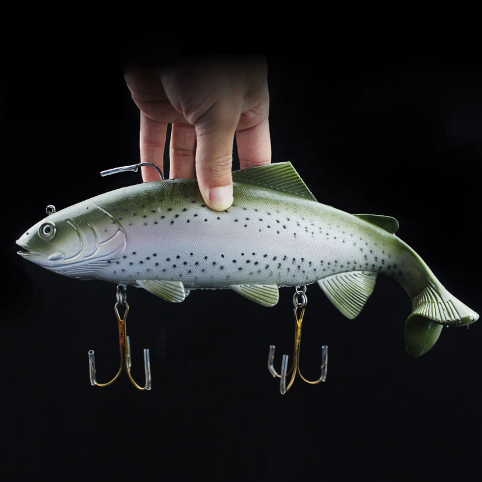 WALK FISH 1PCS 20cm/30cm Sea Fishing Big Size Simulate Soft Fishing Lure Artificial Baits Peche Swimbait Crank Bait Pesca