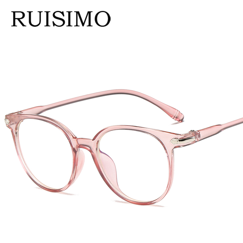 100% QualitäT Frauen Männer Runde Brille Rahmen Weibliche Marke Designer Gafas De Sol Spektakel Plain Gläser Gafas Brillen Brillen Für Frauen Männer 100% Original