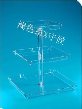 Free shipping wedding decoration Custom Elegant Acrylic 3 Tiers Wedding Cupcake Stand Cake Tray stand for wedding cake