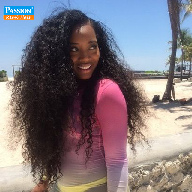 Brazilian Kinky Curly Remy Hair Weave 3 Bundles Real Human Hair