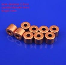 10 шт., Малый Подшипник 2,3 мм, медная латунная втулка, направляющая втулка, точный миниатюрный масляный подшипник