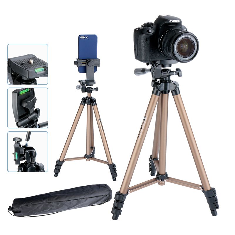 Ulanzi Lightweight Tripod 50 With Phone Clip Holder Remote Controller Shutter For Camera font b Smartphone