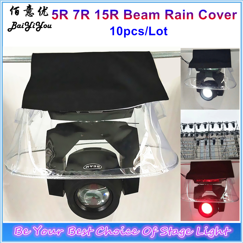10x Moving Head Cloth Rain Cover Add Crystal Plastic Rain Snow Coat For Beam200 230 330