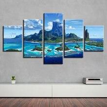 Hd Приморский риф холст живопись настенная Модульная картина