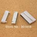 10pcs/lot New Gold/Silver Flat Magnetic Clasps Fits 4*34mm Flat Leather Cords Bracelets for Jewelry Findings Making F839
