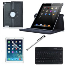 1set Lightweight Professional Bluetooth Keyboard Sets Case Cover + Keyboard + Screen Film + Stylus Pen For Ipad 2/3/4