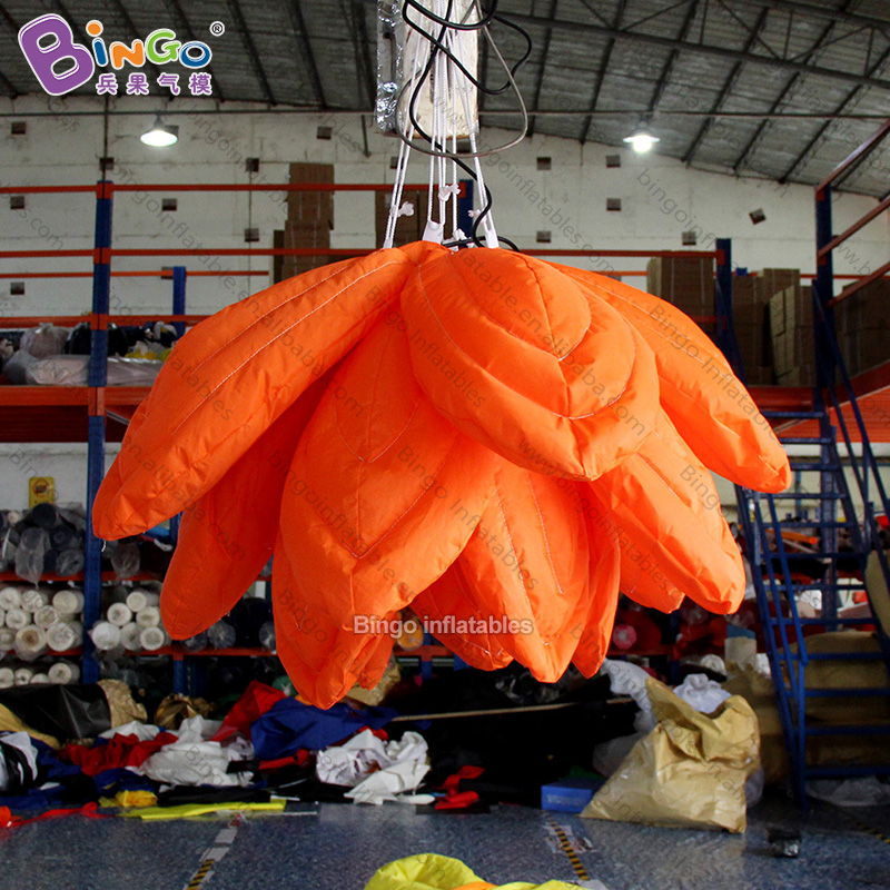 customized 1.5 meters hanging inflatable orange flower - toyscustomized 1.5 meters hanging inflatable orange flower - toys