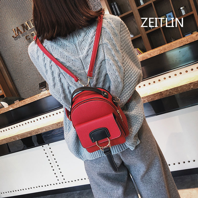 Women Leather Backpack children backpack mini backpack women cute back pack backpacks for teenage girls shoulder bags T1561
