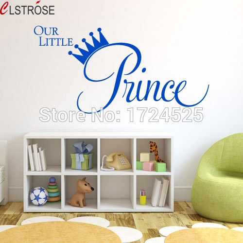 CLSTROSE Our Little Princess Wall Decals Crown Decor Stickers For Girls  Rooms Kids Bedroom Baby Nursery