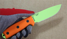 ESEE Green Balde Tactical Hunting Knife Fixed Blade Survival Knife  Rowen Small Straight Knife Orange G10 Handle 1796#