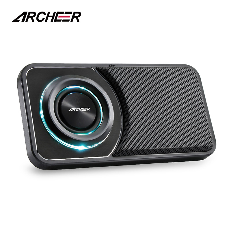 ARCHEER A110 Wireless Bluetooth Speaker With Microphone Handsfree Speakers Portable With Folding Cradle FM Radio Support TF Card