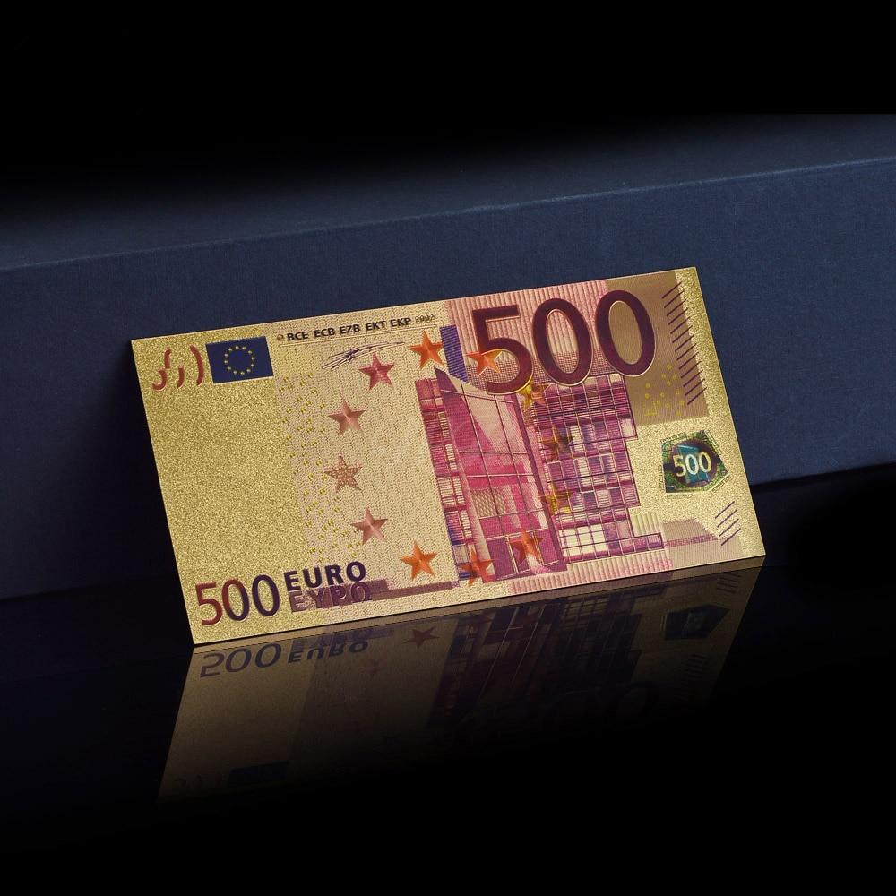 Metal rəngli qızıl dəsti, EURO BANKNOTES 8 ədəd 5, 10, 20, 50, - Ev dekoru - Fotoqrafiya 4