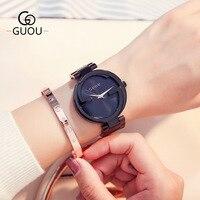 Новая мода горный хрусталь часы Для женщин Элитный бренд браслет часы элегантный женщина Кварц Платье часы relojes para mujer