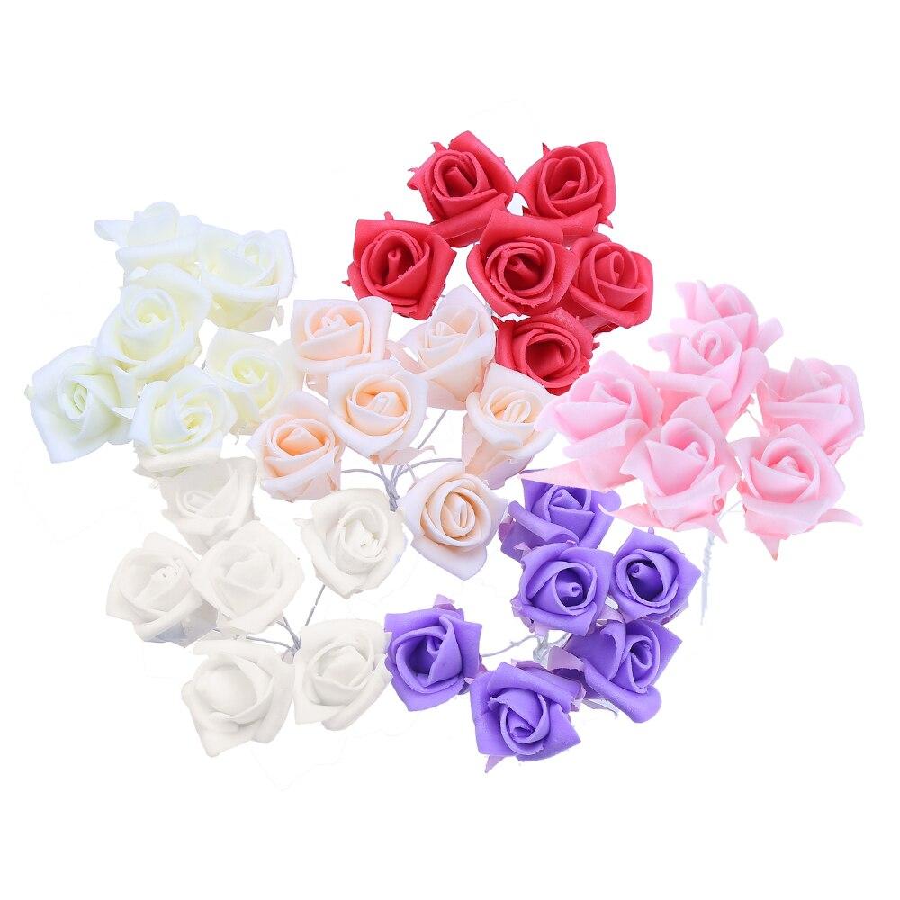 72 unids/lote colores 2.5 cm tulipán flores de la espuma PE flores artificiales