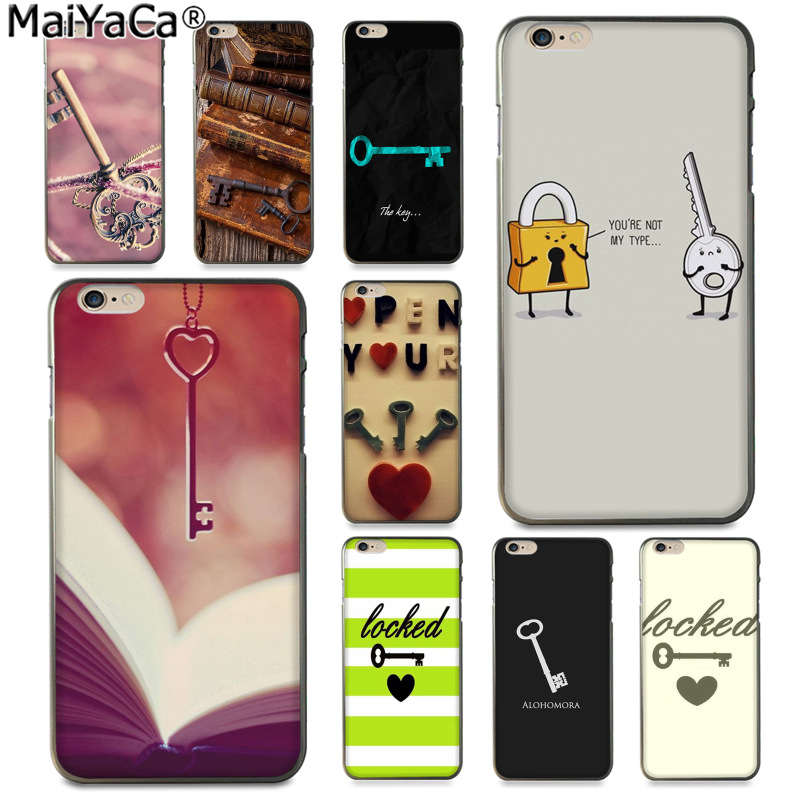 MaiYaCa Mysterious fun key and lock Luxury fashion cell phone case for Apple iPhone 8 7 6 6S Plus X 5 5S SE 5C Cover
