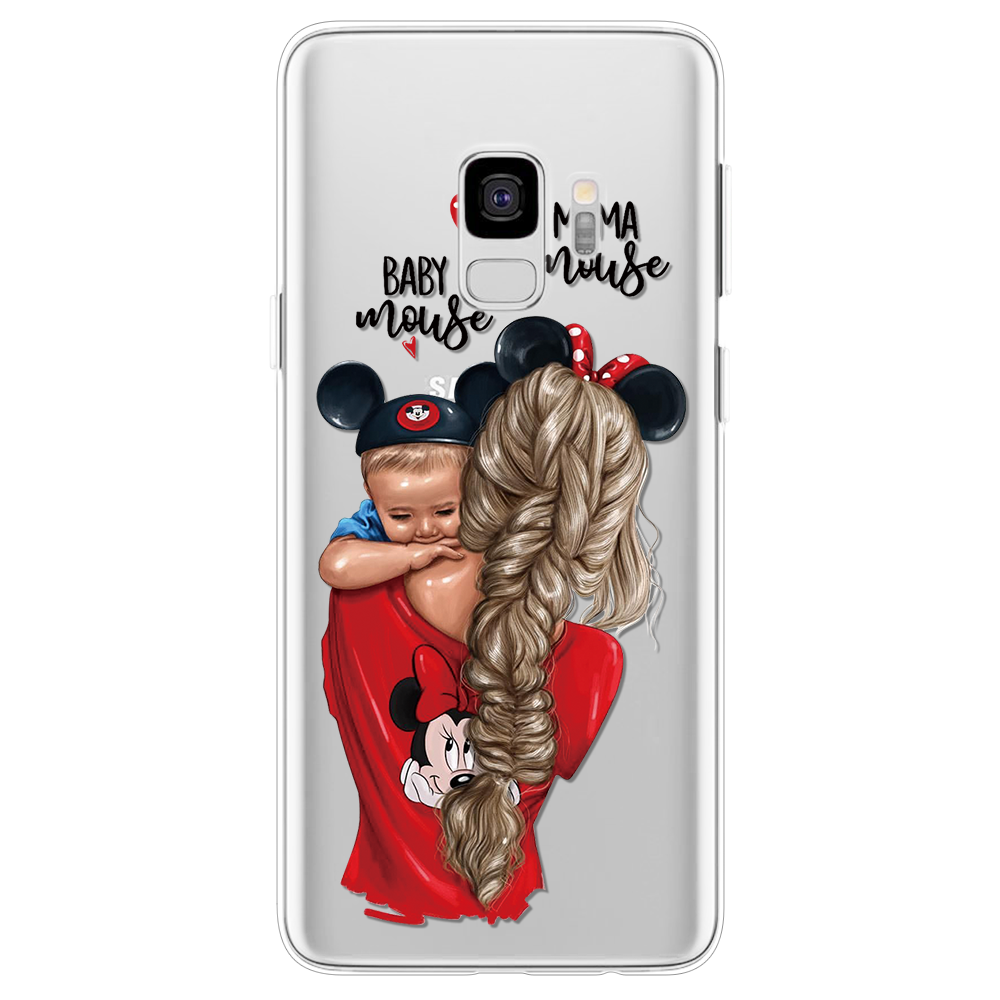 , Soft Cases For Samsung Galaxy S8 S9 S10 S6 S7 Edge Plus S4 S5 Mini Case For Samsung M10 M20 M30 Black Brown Hair Baby Mom Girl