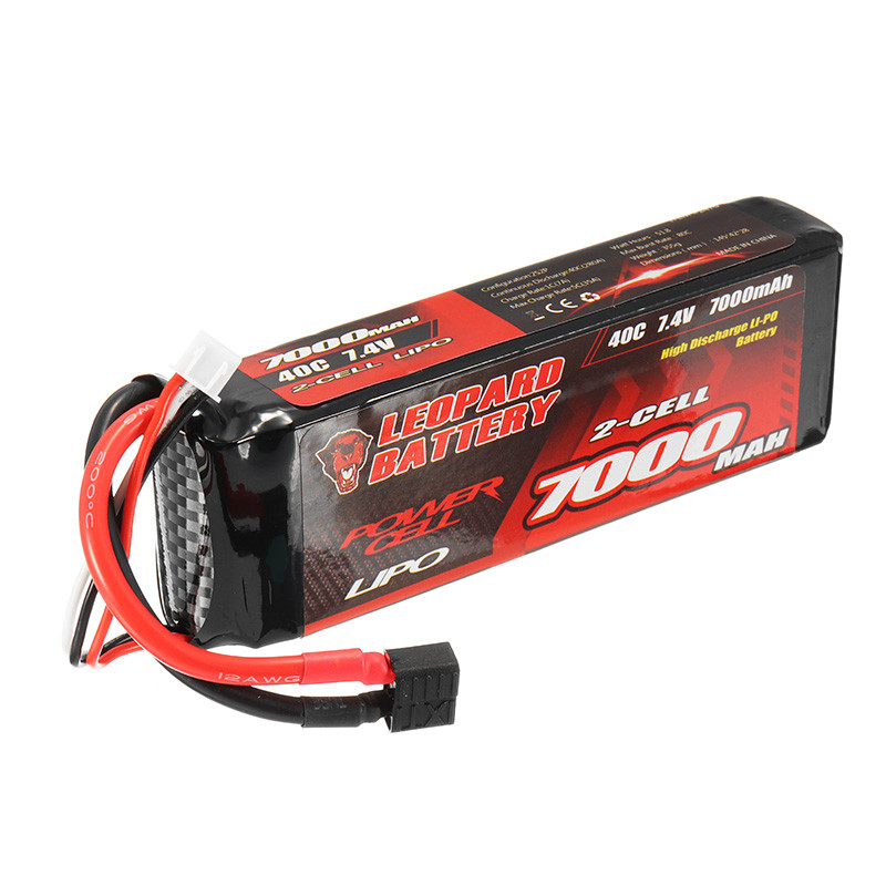 все цены на High Quality LEOPARD Power 7.4V 7000mAh 40C 2S T Plug Rechargeable Lipo Battery for 1:8 1:10 RC Car Boat Models Parts
