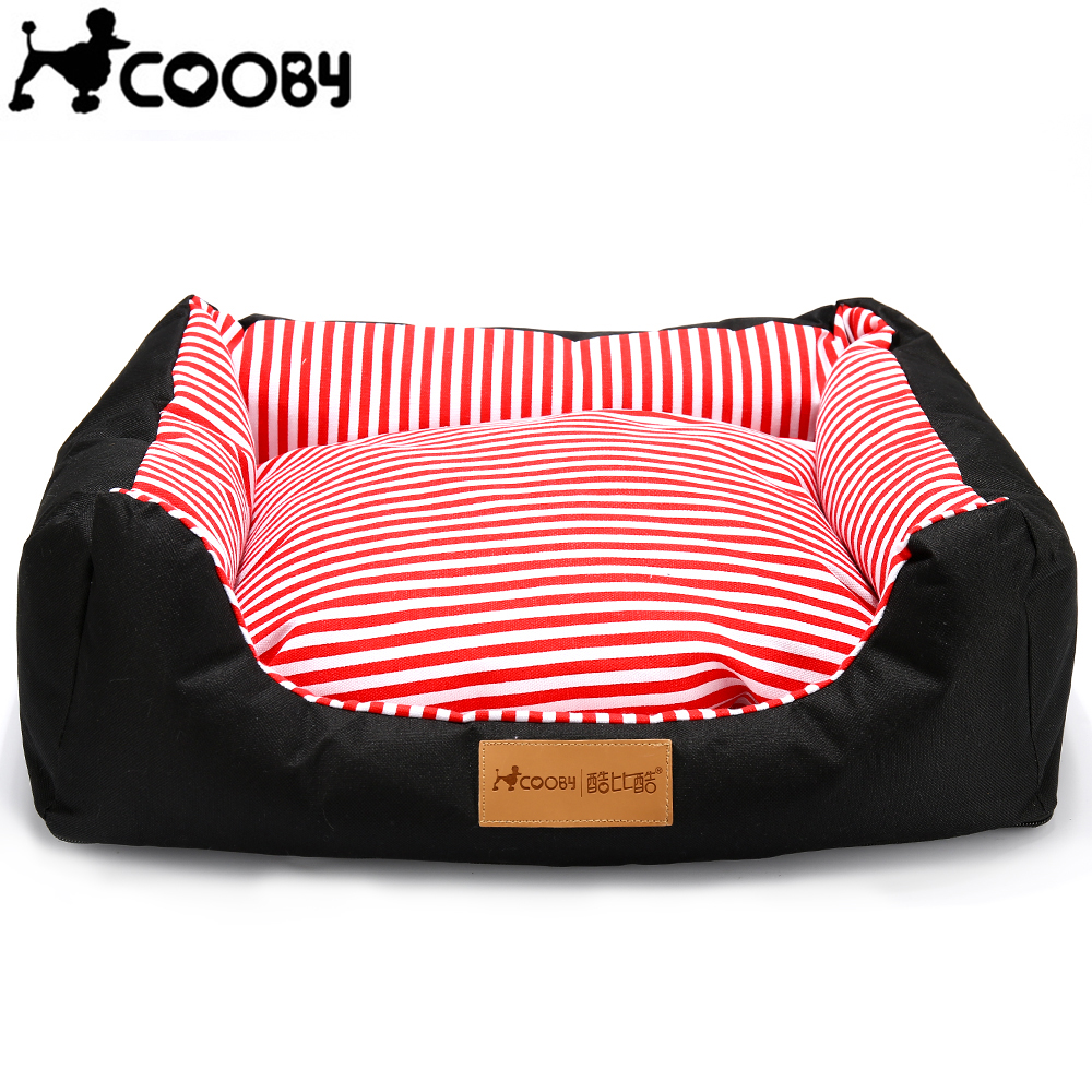 COOBY Plus Size And Plus Thick Pet Dog Beds House Sofa With Colored Stripes For