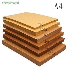 70-400gsm хорошо Упакованные высокое качество A4 твердая крафт-бумага DIY ручной работы для изготовления карт крафт-бумага плотная бумажная доска картон