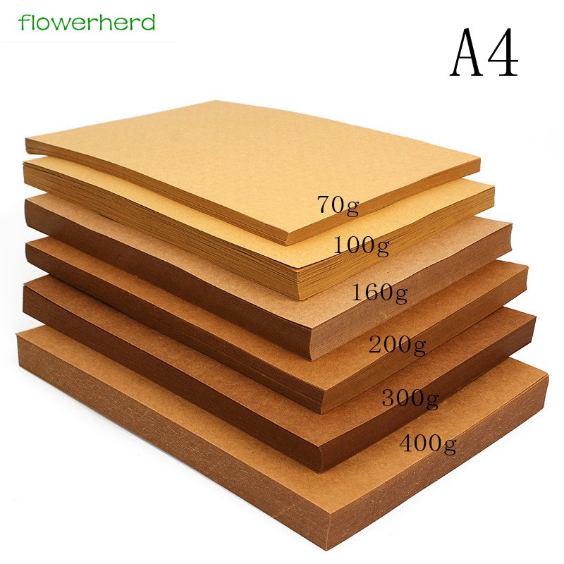 70-400gsm Well Packed High Quality A4 Hard Kraft Paper DIY Handmake Card Making Craft Paper Thick Paperboard Cardboard