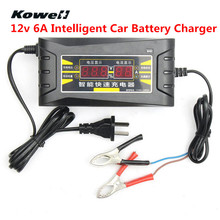 KOWELL New Car Battery Charger 12v Intelligent 6A Automatic Smart Fast LCD Display Souer for