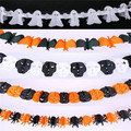 Free shipping 10pcs of Colorful Garlands Halloween Theme Party Ghost Bar Club Pub Cosplay Decoration Props ghost Supply Toy Gift