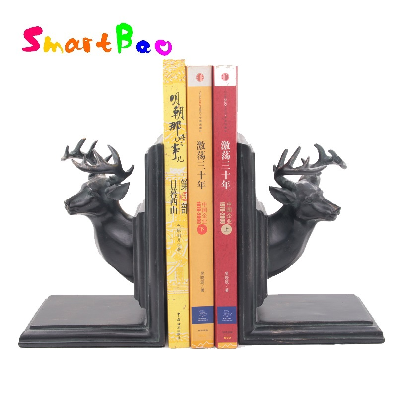 Brief elegant bookend fashion vintage book end accessories classical deer bookend 12 9 17 H cm