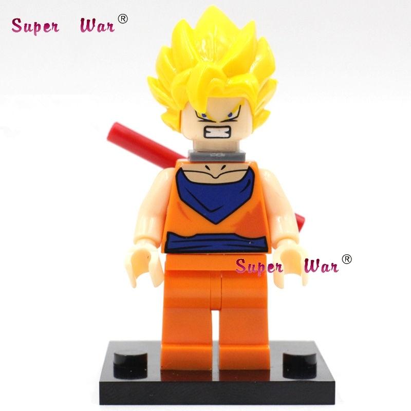 20pcs star wars superhero marvel Dragon Ball Son Goku Collection building blocks figure bricks model educational diy baby toys