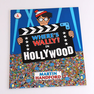 Image 5 - 6 pcs big size A4 English books Where Wheres Wally : Children Observation Vision Will Find Jigsaw gift for kids Childhood