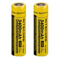 2pcs Nitecore NL1834 New Version Of NL189 NL189 18650 3400mAh 3 7V 12 6Wh Rechargeable Li