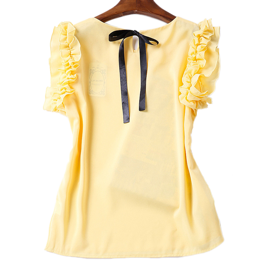 6af191d873d Solid Color Blouse Shirt Chiffon Cheap Clothes China Body Tops Summer  Casual Ladies Camisas Blusas Renda