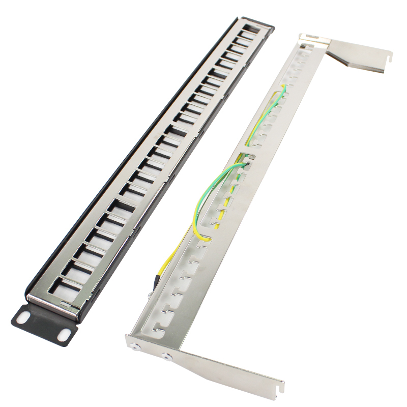 все цены на 19''1U Metal Shielded 24 Port Patch Panel FTP Cabinet Rack Distribution Frame RJ45 Network Cable Adapter CAT6 7 5 Keystone Jack онлайн