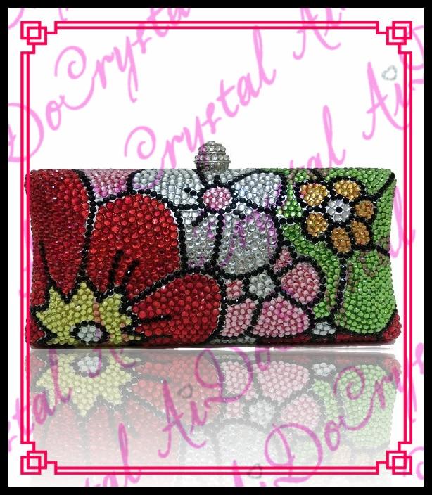 Aidocrystal indian bridal font b clutch b font purse colorful ladies font b clutch b font