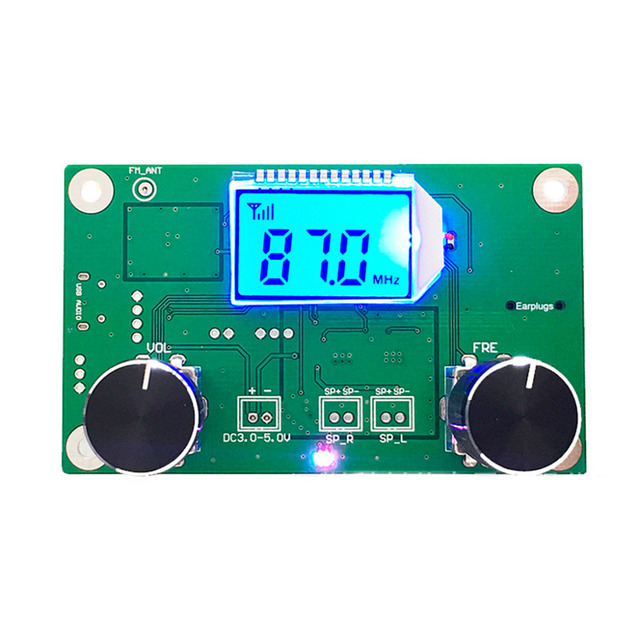 Módulo receptor de Radio FM Digital estéreo LCD, DSP y PLL, 87 108MHz, 1 unidad, Control en serie