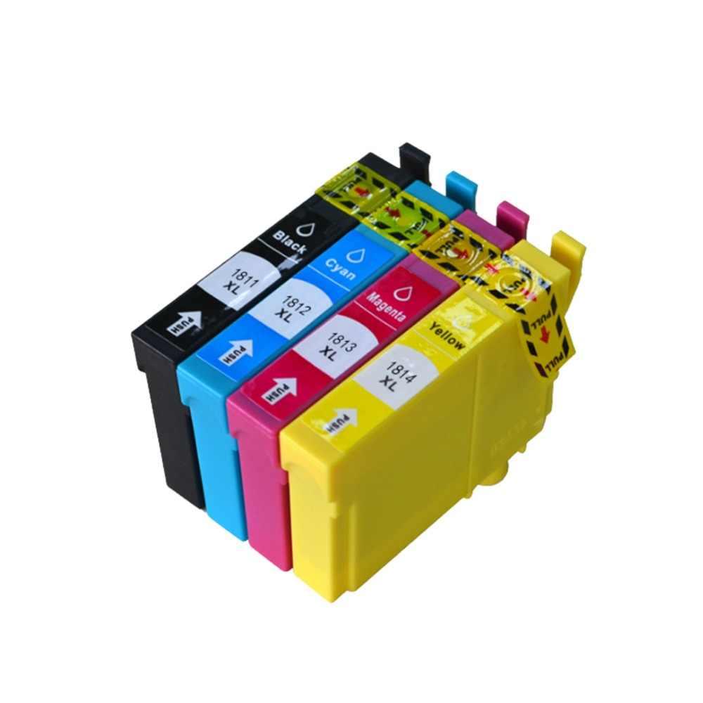 YLC 1 set 18XL T1811-T1814 Compatibel Inktpatroon voor EPSON XP205 XP305 XP322 XP315 XP212 XP402 XP30 XP225 XP325 XP422 printer