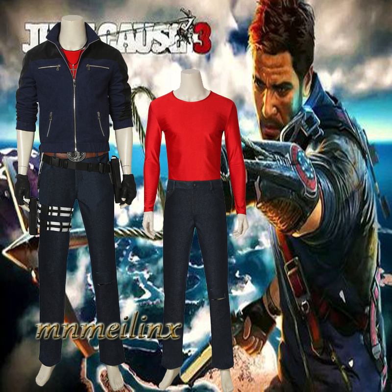 Hot Cake Game Just Cause 3 Rico Rodriguez Cosplay Costume Halloween Men's Outfit Custom Made Suit Chrismas Clothes Any Size