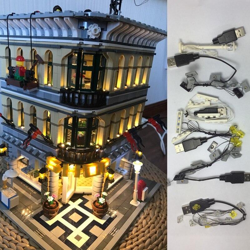 Led 라이트 업 키트 레고 10211 크리에이터 그랜드 엠포 리움 핀 15005 호환 빌딩 모델 제외-에서블록부터 완구 & 취미 의  그룹 1