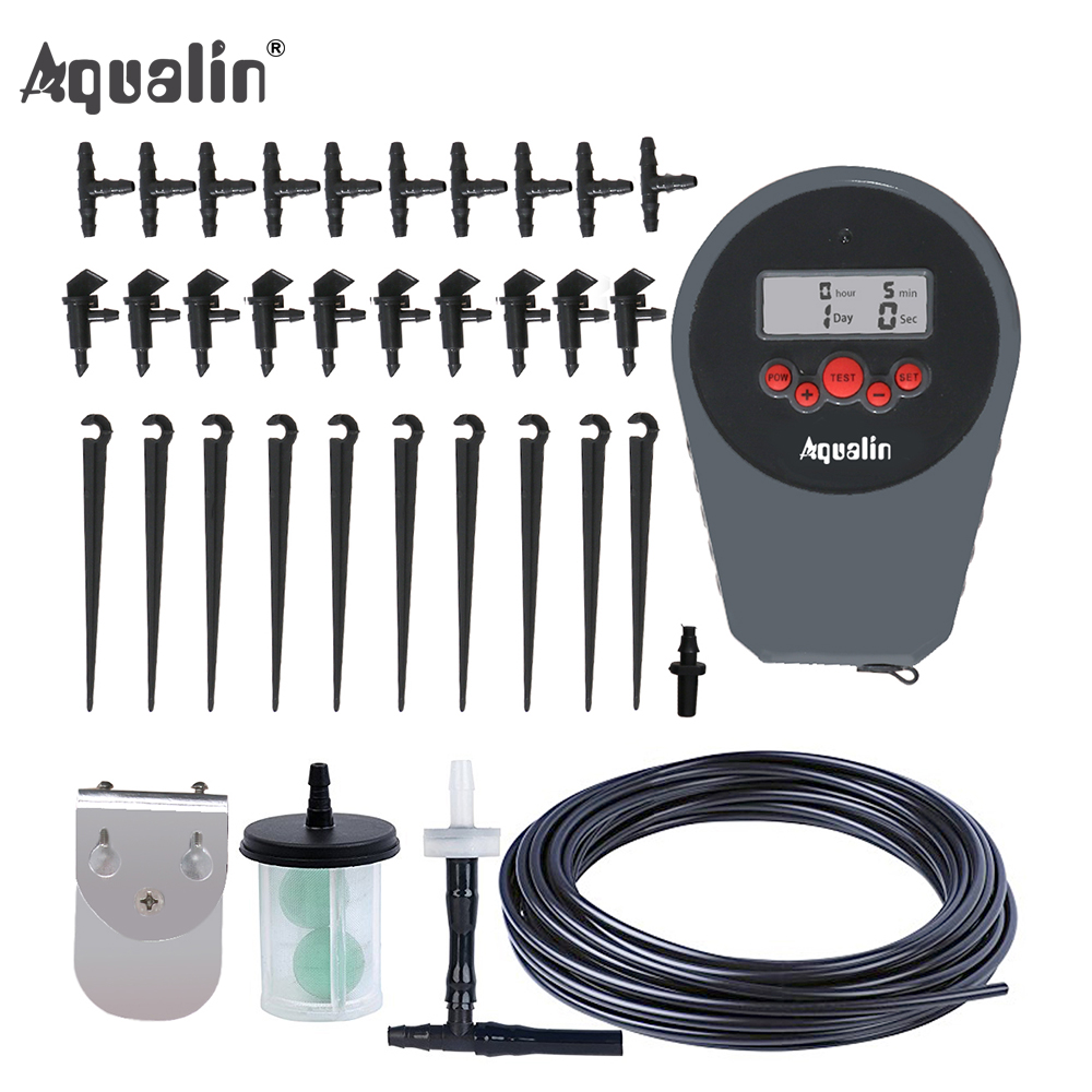 Automatic LCD Display Drip Irrigation Set Garden Flower Water Timer Watering Kit with Built in High