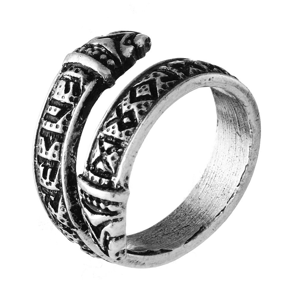 Careful Vikings Runes Antiques Warrior Bronze Ring Vikings Dragon!! Antiques Antiquities