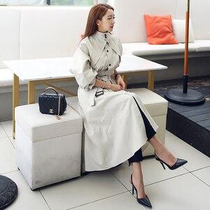 Image 3 - Новое поступление, высококачественный Женский модный Удобный свободный Тренч трапециевидной формы, профессиональный темпераментный теплый длинный Тренч
