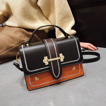 63955b0af881 Женская сумка с панелями, маленькие кожаные сумки с клапаном, женские  боковые сумки через плечо для роскошной сумки, женская сумка, роскошна.