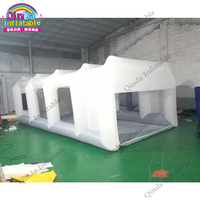 Oxford fabric mobile car wash tent 7x4x2.5m inflatable car repair spray tent for paint used