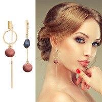 Geometric Dangle earrings Statement Long chain crystal drop Earrings for women wedding Jewelry