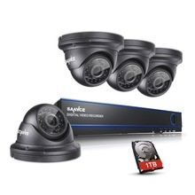 SANNCE 1080P HD 3000TVL Out of doors Safety Digicam System 1080P HD CCTV Video Surveillance 4CH DVR Package 1TB HDD AHD Digicam Set