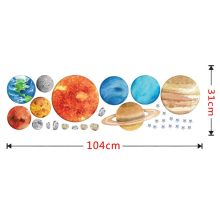 Children's Room Planet Wall Decoration 3D Wall Sticker 3D Broken Wall Nine Planet Wall Stickers Self-Adhesive Creative все цены