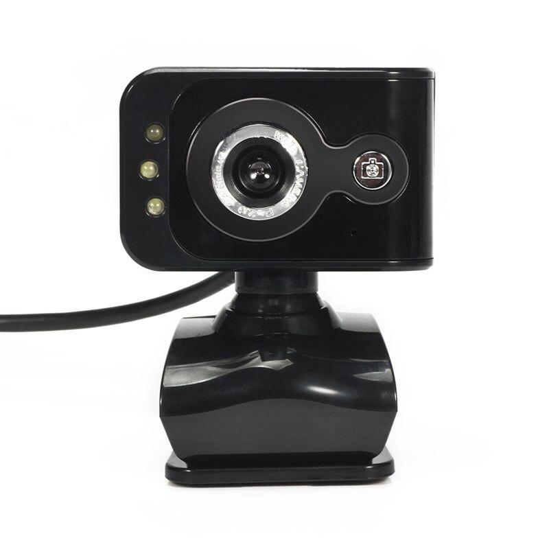 360 degrés 20mp 3 led hd caméra usb 2.0 pc webcam caméra w Microphone Vision MICRO de Nuit pour Ordinateur PC Portable MSN