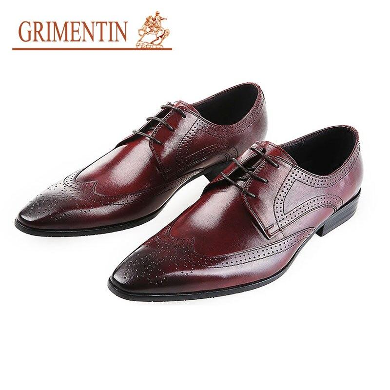 69532cb00 Oficina Grimentin Zapatos Estrecha Formales Para Hombre Boda Oxford Italiano  Punta Lujo Diseñador La Auténtico Brown De Negocios Cuero ...