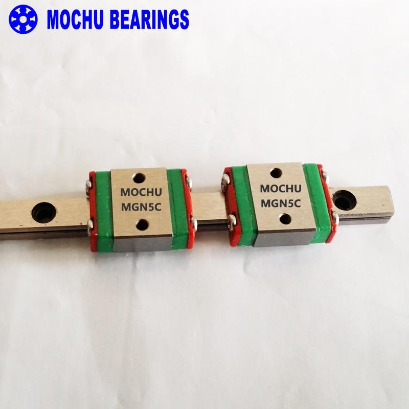 MOCHU MGN5CA2R300Z0C Linear Guideways Rail MGN5R 300mm with 2pcs MGN5C Carriage Block CNC DIY 3D printer Miniature ca–clipper 5 2